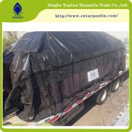 black 19oz large tarpaulin cover truck