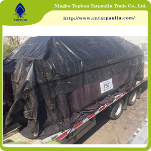black 19oz large tarpaulin cover truck