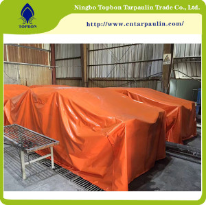 orange 14.9oz tarpaulin sheet cargo cover