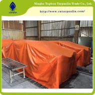 orange 14.9oz tarpaulin sheet cargo cover