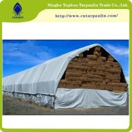 white 500gsm hay cover heavy duty tarps