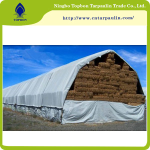 white 500gsm hay cover heavy duty tarps