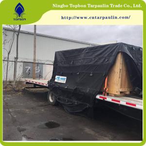 Black 610gsm tarpaulin manufacturer truck cover