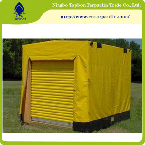 Wooden cover canvas tarps
