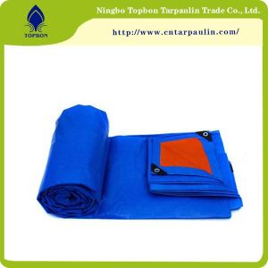 HDPE poly covers orange/blue for hay covers