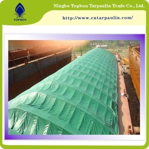 green boat tarps coated fabric