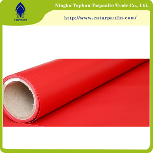 red color 650GSM UV PVC Waterproof tarps