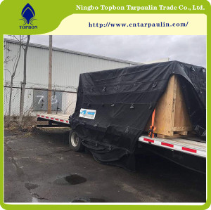 black 650gsm heavy duty tarpaulin for truck