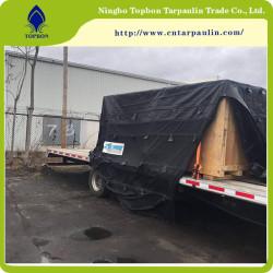 black 650gsm heavy duty tarpaulin for truck