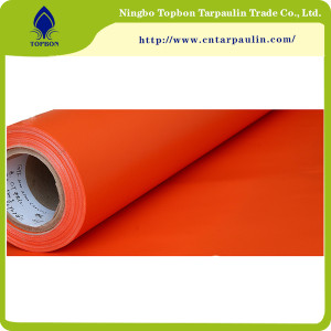 orange 1000D 550gsm pvc coated truck tarpaulin