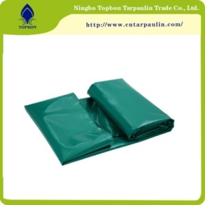 Green canvas tarpaulin covers
