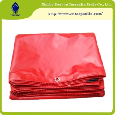Red tarpaulin for truck
