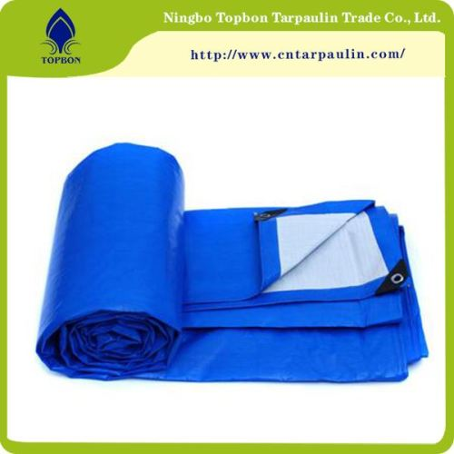 Blue/white 180gsm tarpaulin for hay cover