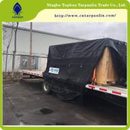 Black tarpaulins
