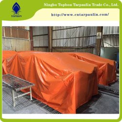 orange tarpaulins