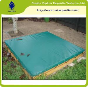 blue tarpaulin sandpit cover
