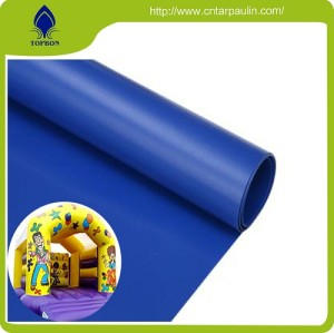 Camouflage Design Waterproof  Tarpaulin  PVC inflatable castle