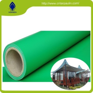 Waterproof Double Side Pvc Coated Fabric  For Rainwear
