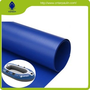 quality blue PE waterproof tarpaulin mesh fabric