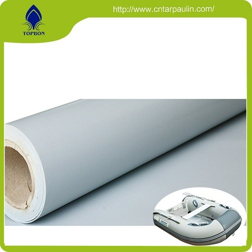 widely used gray PVC tarpaulin packed in rolls