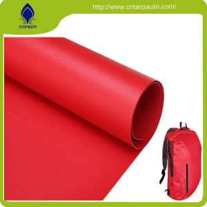 Good quality red pvc fish pond coated fabric tarpaulin