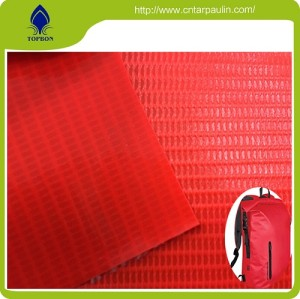 100% Polyester PVC outdoor Backpack Fabric