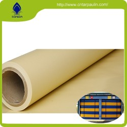 Blue 700GSM Curtain Door Fabric Rolls Vinyl Fabric