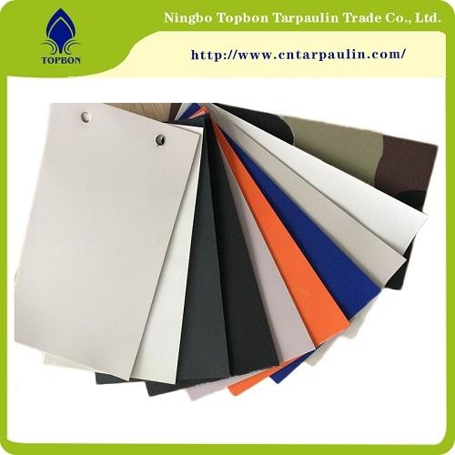 Blue 700GSM Curtain Door Fabric Rolls Vinyl Fabric