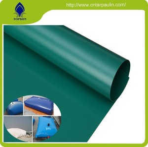 PVC Coated Tarpaulin For water tanks material fabric
