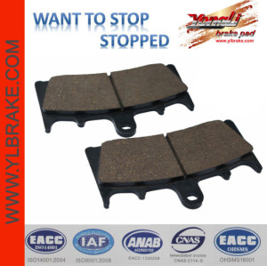 YL-F118 Compact Low Price front sintered motorcycle brake pad for yamaha