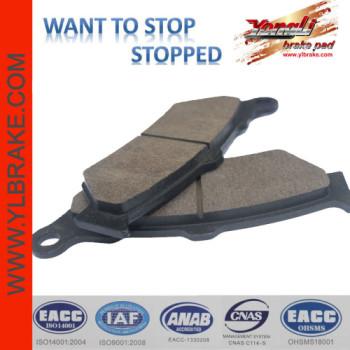 YL-F126 Semi-metallic/cooper base motorcycle Brake Pad