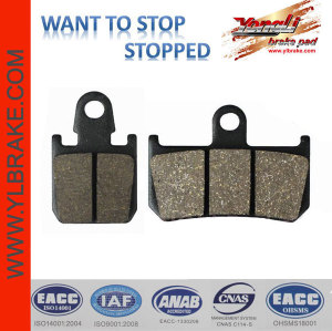 YL-F165 organic /ceramic/copper base motorcycle brake pad