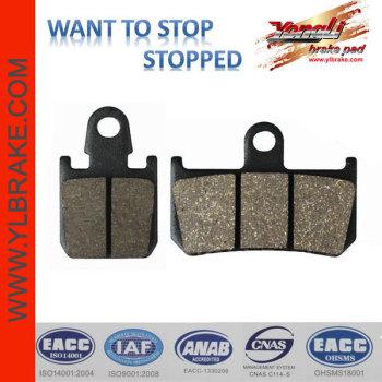 YL-F165 organic /ceramic/copper base motorcycle brake pad