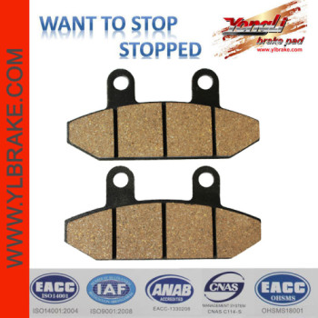 YL-F186 Factory Customized Brake Pad Material for motorcycle