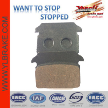YL-F225 Competitive Price Factory Customized Brake Pad Material for motorcycle