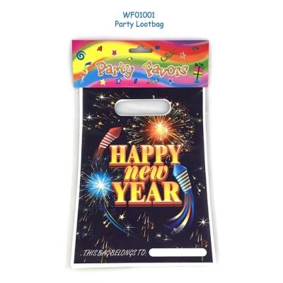 Happy New Year  Plastic PE loot bag festive supplies