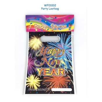 Happy New Year  Plastic PE loot bag festive supplies
