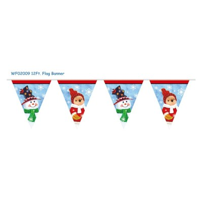 Christmas letter banner printing Christmas Plastic String Flags Pennant flags