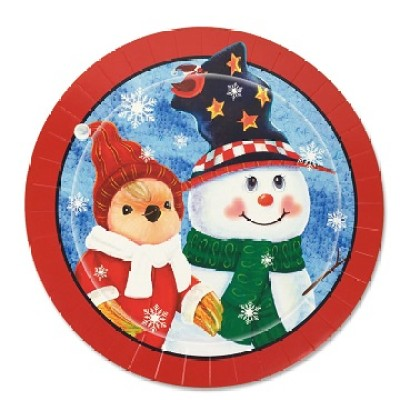 Merry Christmas paper plate
