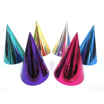 solid color birthday party paper children celebrate birthday hats