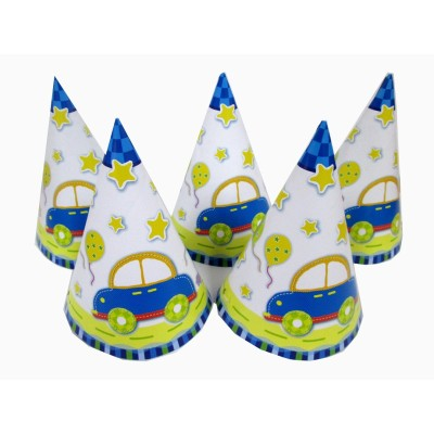 Party Supplies Cheering Toys Paper Hat Cartoon hat Child Favors Hot Sale 5pcs/lot