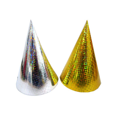 Party supplies 5PCS golden silver theme party, birthday party decoration paper hat