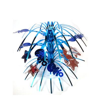 Boy Birthday Blue Fountain Table Centerpiece