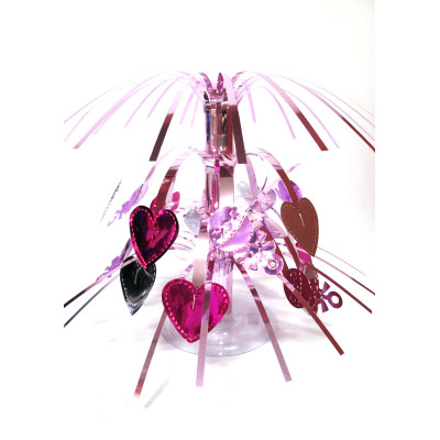 PVC fountain centerpiece for girl birthday table decoration
