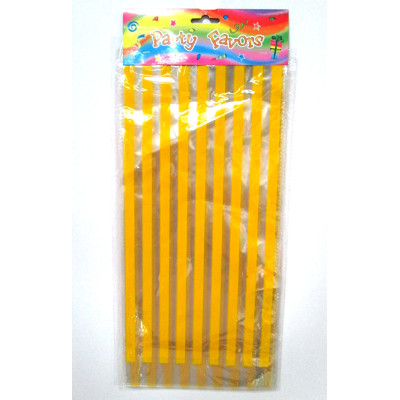 Yellow pattern candy cello bags