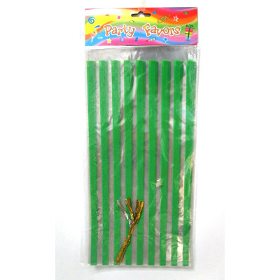 Green pattern candy cello bags