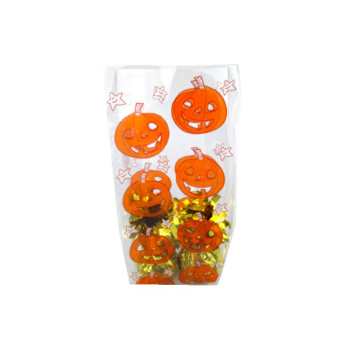 Halloween Pumpkin cello bags for plastic packaging bags for candy