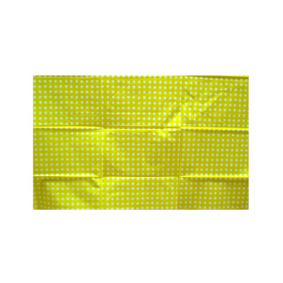 yellow with white pot disposable printed plastic tablecloth