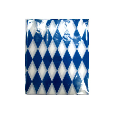 Diamond blue and white children party dining table cover
