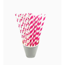 Good Looking pink stripe High Quality Paper Straws